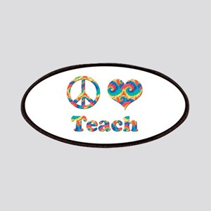2-peace love teach copy Patch