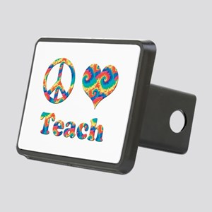 2-peace love teach copy.pn Rectangular Hitch Cover