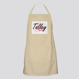 Talley surname artistic design with Flowers Apron