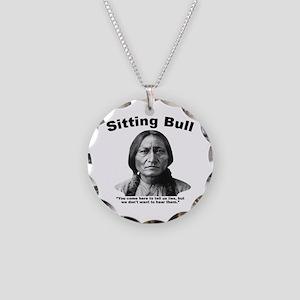 Sitting Bull: Lies Necklace Circle Charm