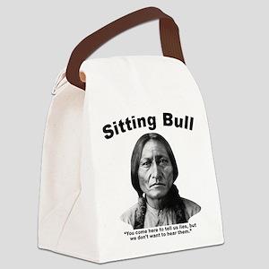 Sitting Bull: Lies Canvas Lunch Bag