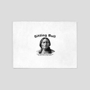 Sitting Bull: Lies 5'x7'Area Rug