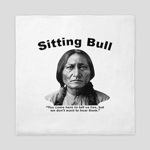 Sitting Bull: Lies Queen Duvet