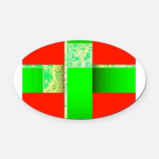 Wondrous Yuletide Gift Derek's Fav Oval Car Magnet