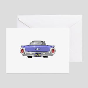 1961 Ford T-Bird Greeting Card