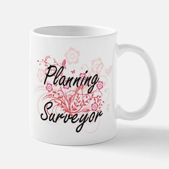 Planning Surveyor Artistic Job Design with Fl Mugs