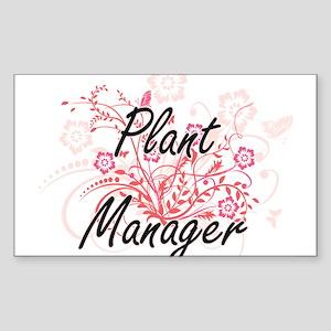 Plant Manager Artistic Job Design with Flo Sticker