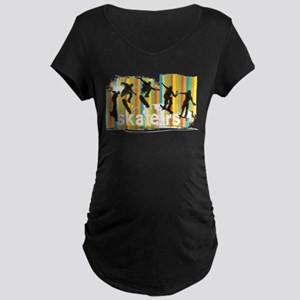 Ink Sketch of Skateboarder Progr Maternity T-Shirt