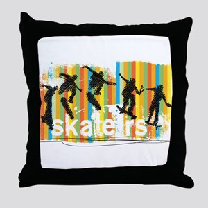 Ink Sketch of Skateboarder Progressiv Throw Pillow