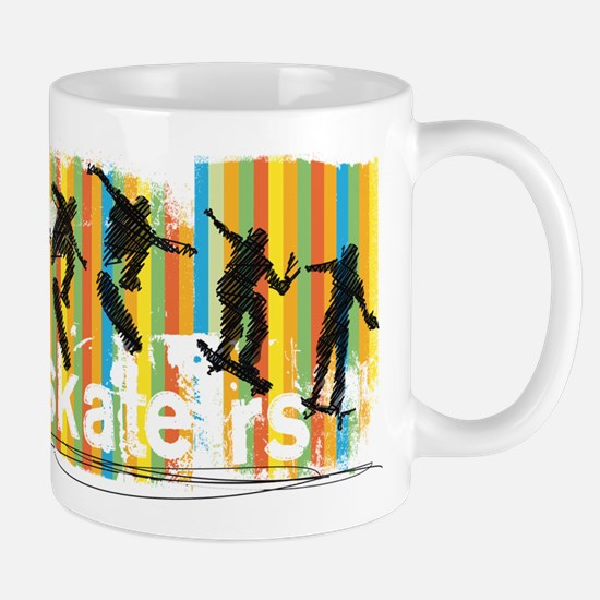Ink Sketch of Skateboarder Progressive Sequen Mugs
