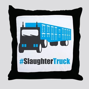 #SlaughterTruck Throw Pillow