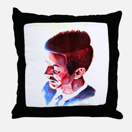 JFK - Solemn Throw Pillow
