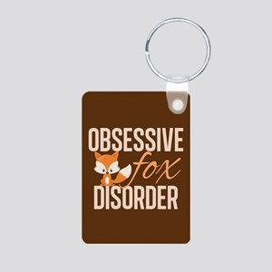 Cute Fox Aluminum Photo Keychain