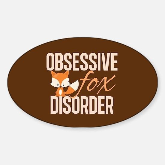 Cute Fox Sticker (Oval)