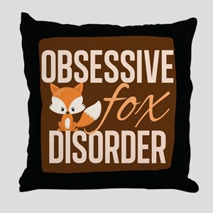 Cute Fox Throw Pillow