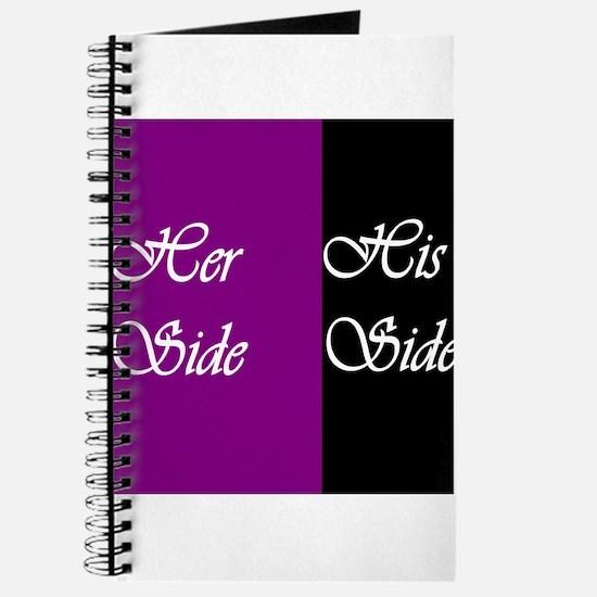 Her Side: His Side , purple, black Journal