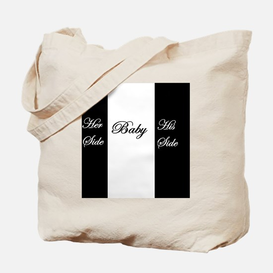 Her Side, His Side, Baby Middle Tote Bag