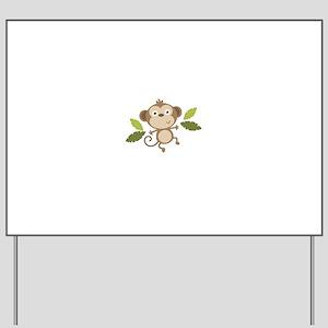 Baby Monkey Yard Sign