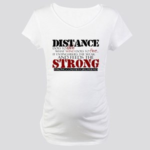 Feeds the strong: USCG Girlfr Maternity T-Shirt