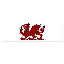 Red Welsh Dragon Sticker (Bumper)