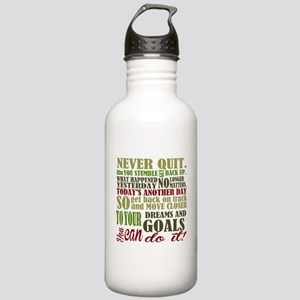 Never Quit Stainless Water Bottle 1.0L