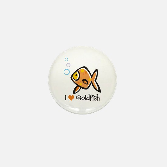 I Love Goldfish Mini Button