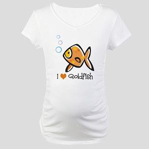 I Love Goldfish Maternity T-Shirt
