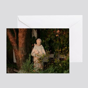 St Francis Statue Greeting Card