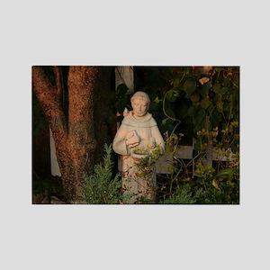 St Francis Statue Rectangle Magnet