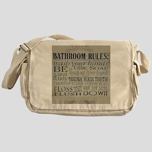 bathroom rules Messenger Bag