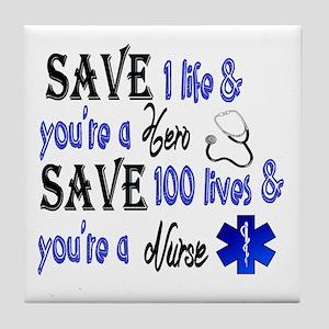 Nurse, Save Tile Coaster