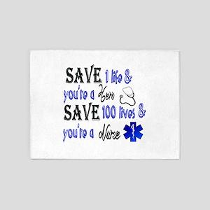 Nurse, Save 5'x7'Area Rug