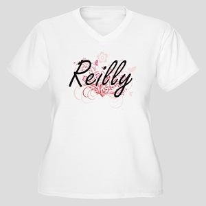 Reilly surname artistic design w Plus Size T-Shirt