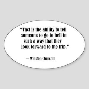 tact:Winston Churchhill Sticker