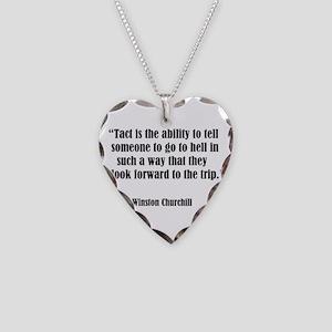 tact:Winston Churchhill Necklace Heart Charm