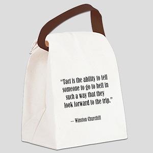 tact:Winston Churchhill Canvas Lunch Bag