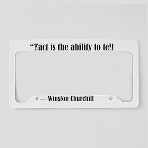 tact:Winston Churchhill License Plate Holder