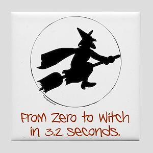 Zero to Witch Tile Coaster