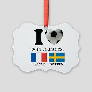 FRANCE-SWEDEN Picture Ornament