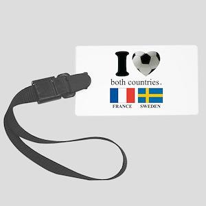 FRANCE-SWEDEN Large Luggage Tag