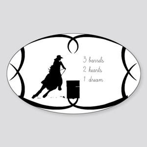 Barrel Racing 3 barrels Sticker