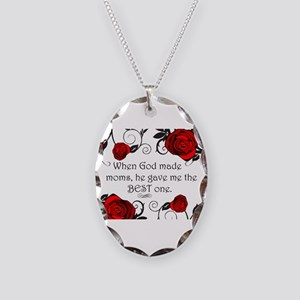 Best mom Necklace Oval Charm