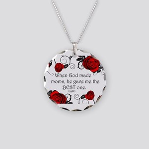 Best mom Necklace Circle Charm