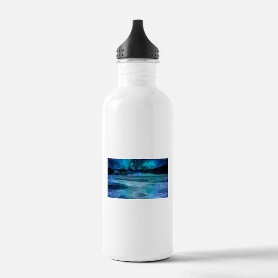 Cute Aurora borealis Water Bottle