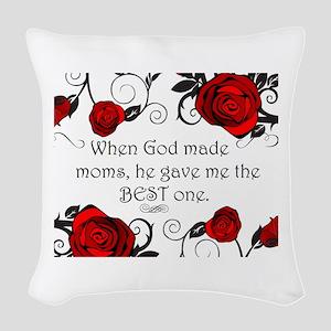 Best mom Woven Throw Pillow