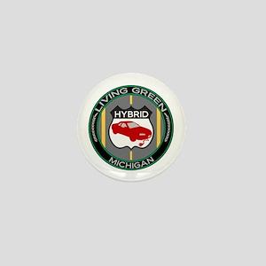 Living Green Hybrid Michigan Mini Button