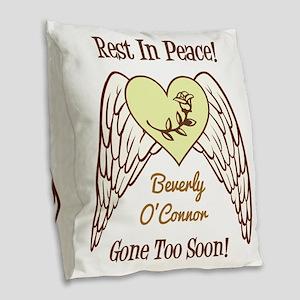 REST IN PEACE! Burlap Throw Pillow