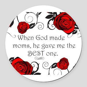 Best mom Round Car Magnet