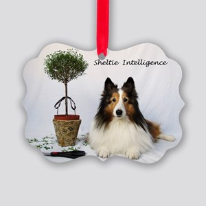 Sheltie Intelligence Picture Ornament