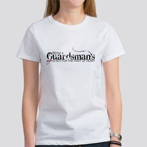Faint of heart: Guardsman Women's T-Shirt